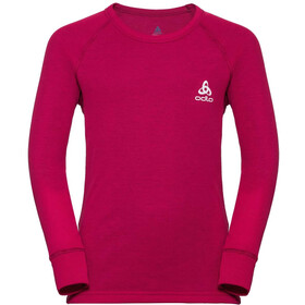 Odlo Active Warm Crew Neck LS Top Kids, cerise